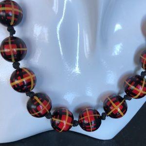 RARE vintage tartan beads
